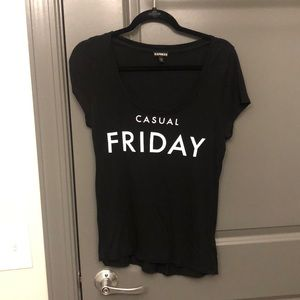 """""""Casual Friday"""" Express swoop neck t-shirt"""